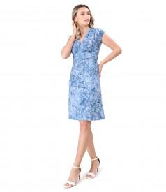 Rochie din jerse elastic cu model tesut in relief