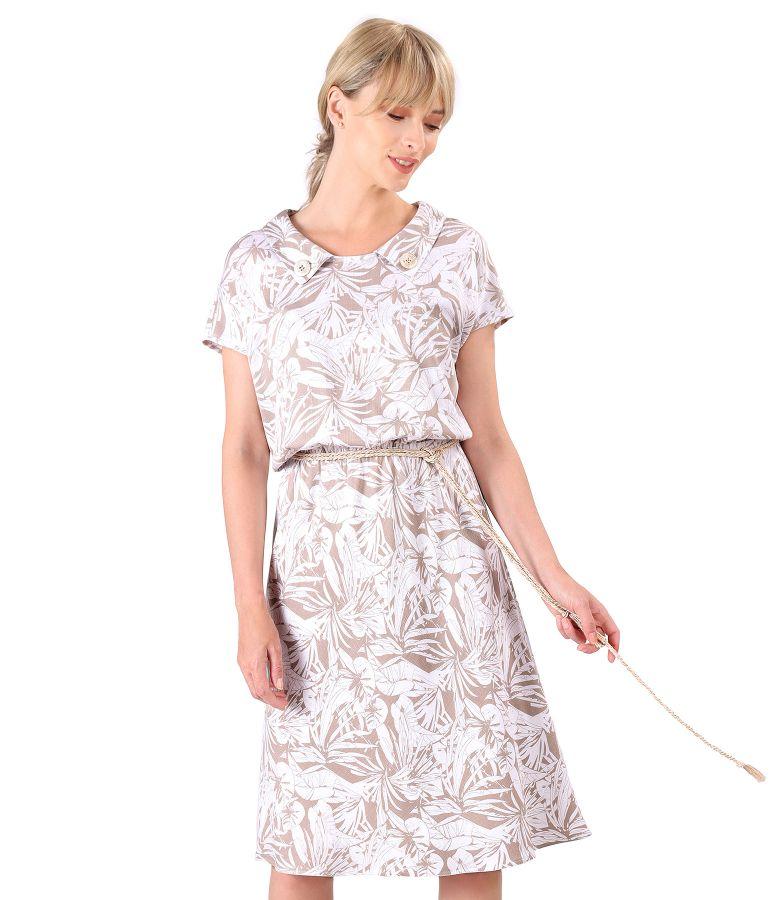 Rochie lejera din vascoza elastica cu cordon din sfoara