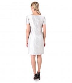 Rochie eleganta din stofa brocata cu in