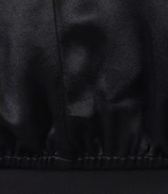 Bluza lejera din saten de vascoza