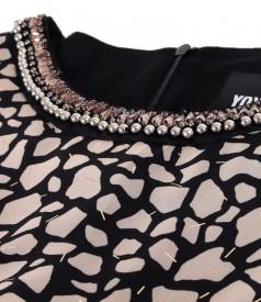 Rochie din voal cu animal print