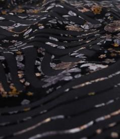 Rochie din catifea brocata cu motive florale