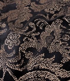 Rochie din catifea elastica imprimata cu motive aurii