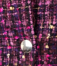 Sacou elegant din bucle multicolor cu lana