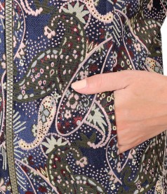 Jacheta scurta din brocart cu fir metalic