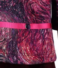 Bluza din jerse elastic gros imprimat