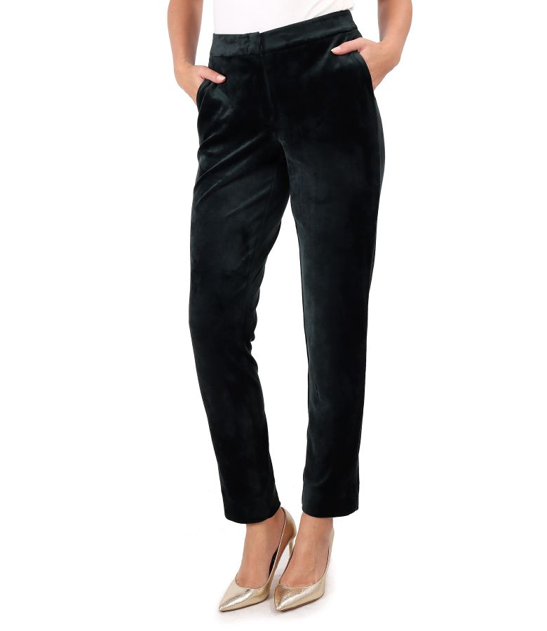 Pantaloni din catifea elastica