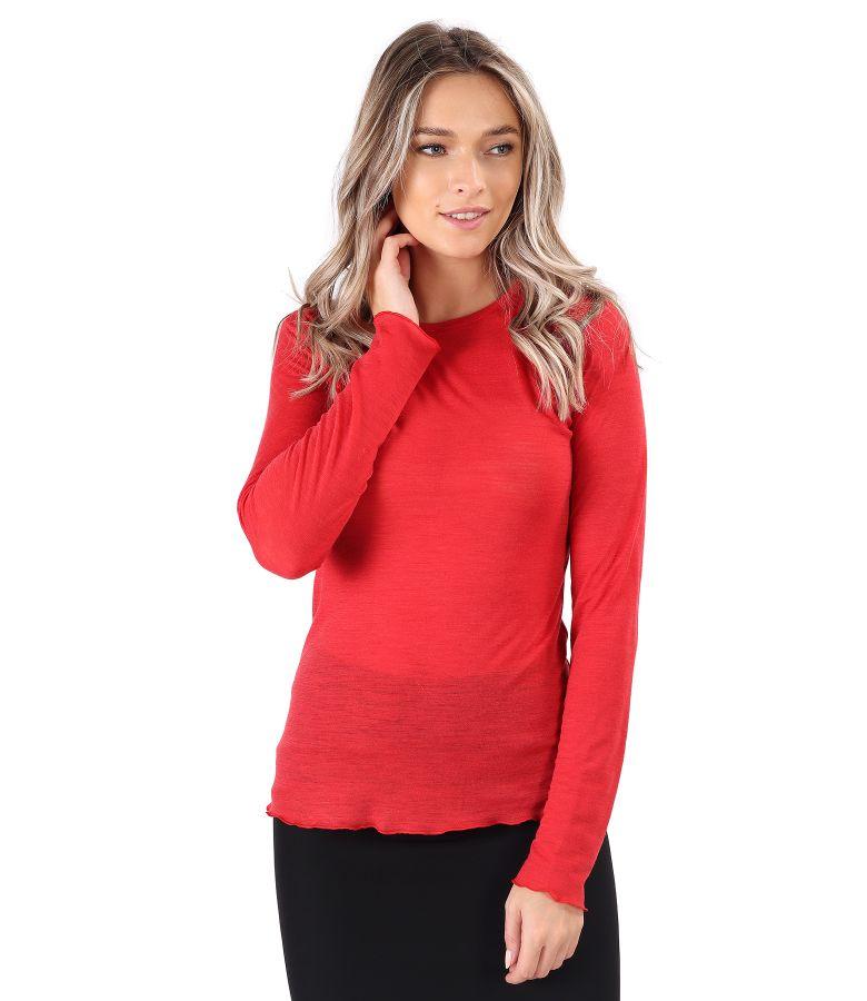Bluza calduroasa din jerse de lana
