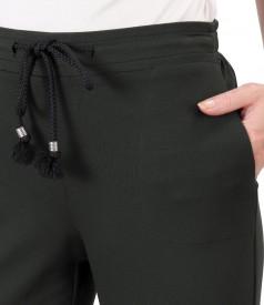Pantaloni lejeri din jerse elastic flausat