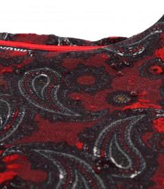 Bluza din jerse elastic gros imprimat cu motive paisley