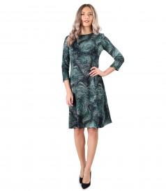 Rochie eleganta din jerse elastic gros