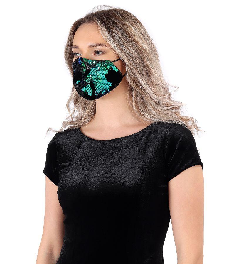 Masca refolosibila cu paiete reversibile