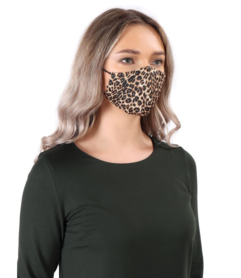 Masca refolosibila cu print leopard