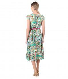 Rochie eleganta din viscoza imprimata