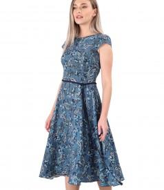 Rochie eleganta din viscoza imprimata cu motive paisley