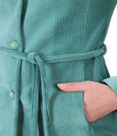 Sacou jacheta cu cordon din catifea raiata