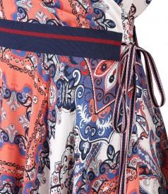 Rochie din viscoza imprimata cu motive florale