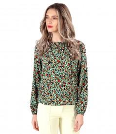 Bluza eleganta din viscoza imprimata