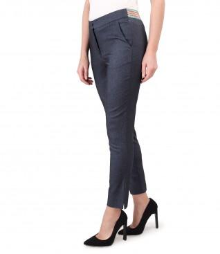 Pantaloni pana din denim elastic