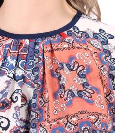 Bluza lejera din viscoza imprimata