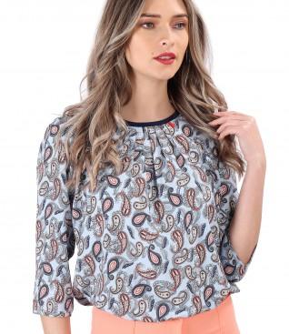 Bluza lejera din viscoza imprimata paisley