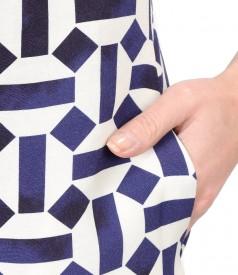 Rochie eleganta din viscoza cu in