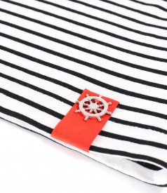Bluza din jerse elastic gros cu dungi