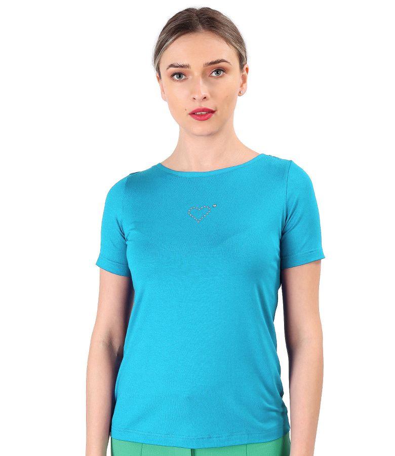 Bluza din jerse elastic fin