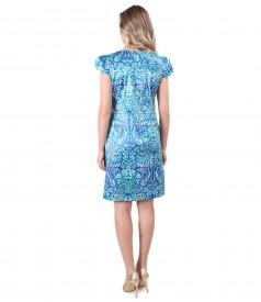 Rochie eleganta cu bumbac imprimat cu motive florale
