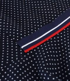 Rochie din viscoza imprimata cu picouri