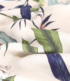 Rochie cu volan din tencel imprimat cu motive florale