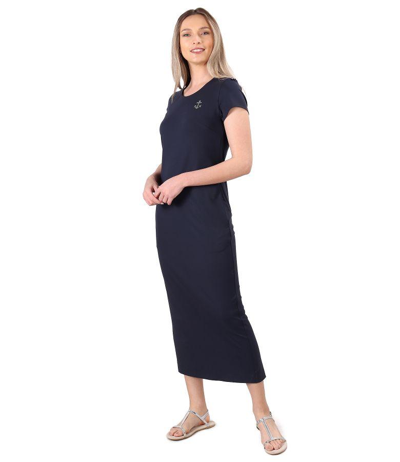 Rochie lunga din jerse elastic uni