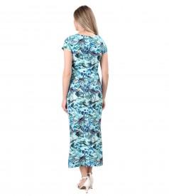 Rochie lunga din bumbac elastic