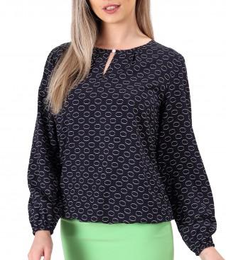 Bluza din viscoza imprimata cu cercuri
