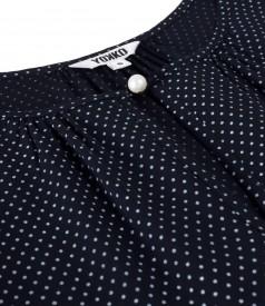Bluza din viscoza imprimata cu picouri