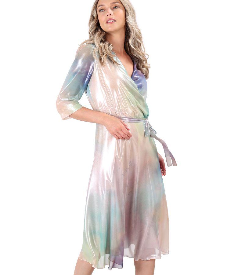 Rochie de seara din voal sidefat