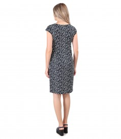 Rochie din jerse elastic de viscoza