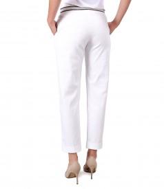 Pantaloni din bumbac texturat