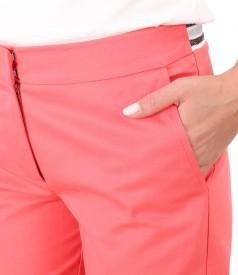Pantaloni din bumbac cu lycra