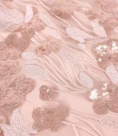 Rochie de seara cu maneci ample din dantela cu paiete