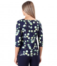 Bluza din jerse elastic de viscoza