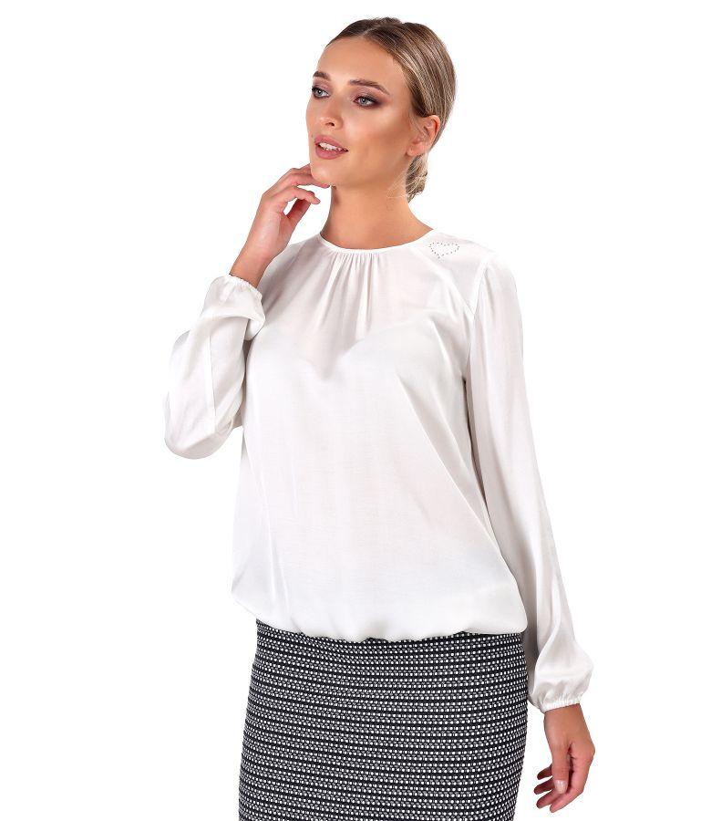 Bluza eleganta din saten de viscoza