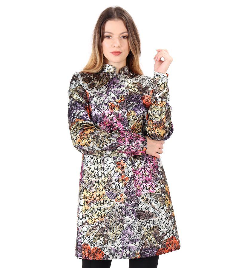 Jacheta din brocart cu fir metalic